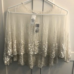Evernew beaded bridal capelet